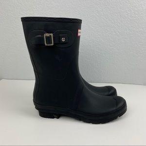 Hunter Rain Boots Matte Black size 10